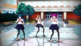 getlinkyoutube.com-【MMD Yandere Simulator】 Spice 【Yandere-Chan, Saki Miyu, Kokona Haruka】