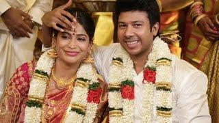 getlinkyoutube.com-Actress Vijayalakshmi Wedding Reception | Actor Vishal, Karthi, Nassar, Venkat Prabhu at Marriage