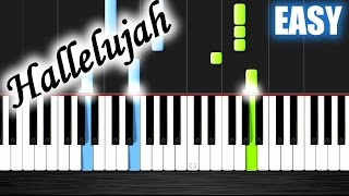 getlinkyoutube.com-Hallelujah - EASY Piano Tutorial by PlutaX