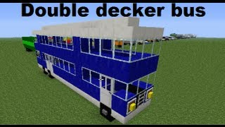 Minecraft vehicles ◙ Double decker bus (eng subs)