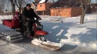 getlinkyoutube.com-снегоход муравей-палочник покатушки