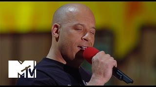 getlinkyoutube.com-Vin Diesel Sings 'See You Again' For Paul Walker At The Movie Awards | MTV