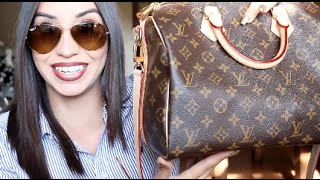 getlinkyoutube.com-What's in My Bag + Louis Vuitton Speedy 30 Review