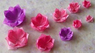 getlinkyoutube.com-Origami - Hướng dẫn cách gấp HOA SEN VIỆT NAM