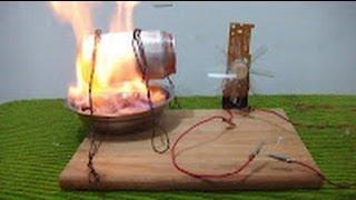 getlinkyoutube.com-Como hacer un generador de energía eléctrica (Maqueta demostrativa)