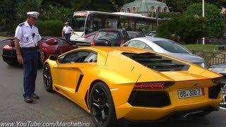 getlinkyoutube.com-Police STOPS Noisy Lamborghini Aventador!