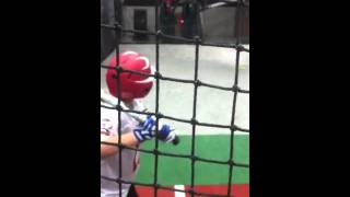 12 year old kid hitting a 100+ mph fastball