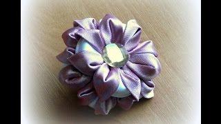getlinkyoutube.com-Цветок из вывернутых лепестков канзаши
