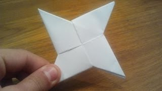 getlinkyoutube.com-How To Make a Paper Ninja Star (Shuriken) - Origami