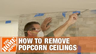 Click to discover how to remove a popcorn ceiling.