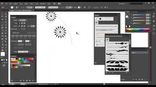 getlinkyoutube.com-Illustrator:การใช้ Brush กับเส้น Stroke