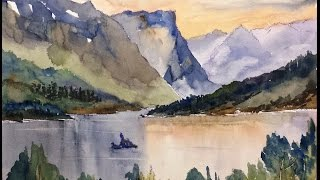 getlinkyoutube.com-Paint Along with Larry Hamilton - July 20, 2014 - Watercolor - Goose Island