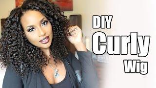 getlinkyoutube.com-Diy Curly Wig with WowAfrican Virign Brazilian Afrocurl bundles