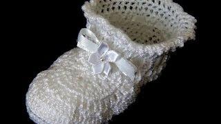 getlinkyoutube.com-Crochet : Zapatito de Bebé.  Parte 1 de 2