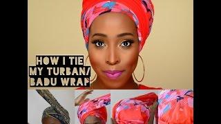 getlinkyoutube.com-DIY -How I Tie Turban/ Badu Head Wrap Tutorial for Bad Hair Days, fall hair