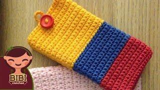 getlinkyoutube.com-Como hacer una Bolsa o Funda en Crochet para tu Celular | Bibiana Mejia Crochet 2016