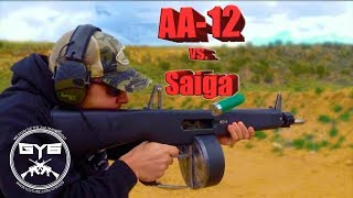 getlinkyoutube.com-AA-12 vs. Saiga 12---FULL AUTO SHOTGUNS