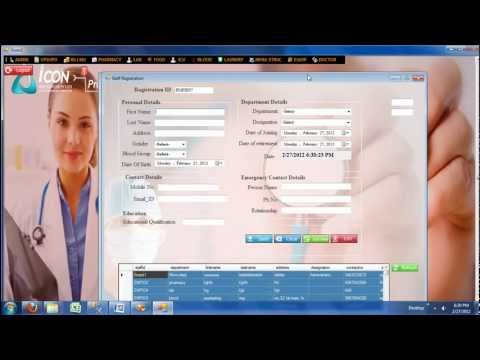 Hospital Management System -Admin module demo_ icon info solutions