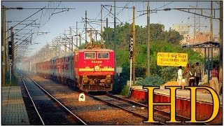 getlinkyoutube.com-IRFCA- Horribly late running Sampoorna Kranti Express hauled by CNB WAP4 with tremendous honking