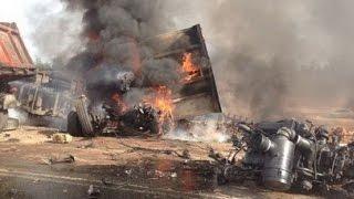 getlinkyoutube.com-Best truck crashes, truck accident compilation 2014 Part 18