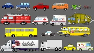 getlinkyoutube.com-Street Vehicles Learning For Children - Learn Cars and Trucks - Kids Pictures