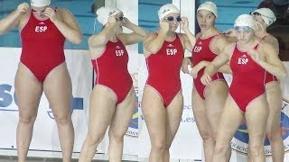 getlinkyoutube.com-[4K] female waterpolo team Spain 05 [60fps test]