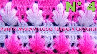 getlinkyoutube.com-Punto maravilloso tejido a crochet # 4 para tejer mantitas para bebe