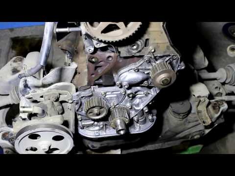 Toyota Noah 3S FE Тойота Ноах 2000 года Сборка двигателя, ремонт 5 часть