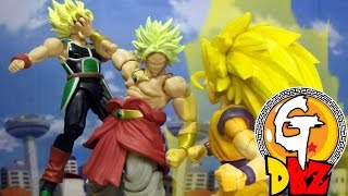 getlinkyoutube.com-Dragon Ball Z-Son Goku & Bardock VS Broly Stop MotionドラゴンボールZ- 孫悟空VS ブロリー 七龍珠-悟空父子VS布羅利