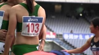 getlinkyoutube.com-41th Junior Olympics in Yokohama (2010)Japan Nationals Women's 4 × 100m Preliminary (ending)