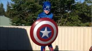 getlinkyoutube.com-Captain America and Superman vs. Afro Mama