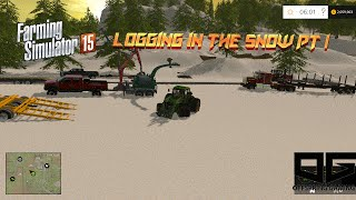 getlinkyoutube.com-Farming Simulator 2015- Logging In the Snow PT1!