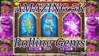 getlinkyoutube.com-Amazing Lucky 5K Gem Rolling for Prime97 - Castle Clash