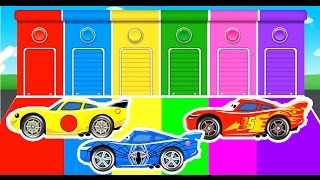 getlinkyoutube.com-COLOR Lightning McQueen and Spiderman Cars Cartoon for Kids and Children w Learn Colors Fun Video