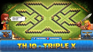 getlinkyoutube.com-★ Clash of Clans Troll Base ★ TH10 - Triple X Defense