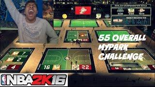 NBA 2K16| 55 overall myplayer snaps 38 GAME WIN STREAK !!!! MyPark challenge - Prettyboyfredo