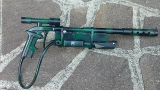 getlinkyoutube.com-Pistola aria compressa con pompa per bicicletta - Gun wih pump bike - Fai da te - DIY