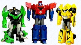 getlinkyoutube.com-Set Hero Class Three Step Changers - Transformers Robots In Disguise - Optimus, BumbleBee, Grimlock