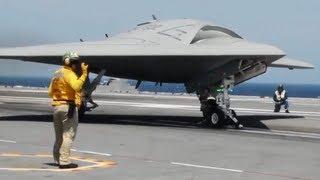 getlinkyoutube.com-X-47B Historic Drone Carrier Landing