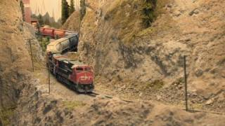 Thompson River Canyon ( Canadian National Railway) - N scale trains - Great Model RailRoad - PoathTV