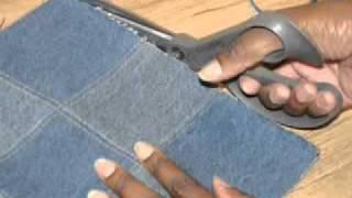 getlinkyoutube.com-DIY Denim Purse From Old Jeans