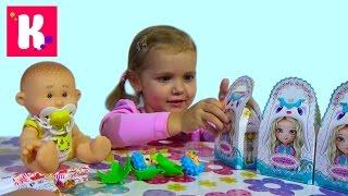 getlinkyoutube.com-Кукла пупс с ароматом сюрпризы малыши и сестрички игрушки Yogurtinis doll unboxing surprise toys