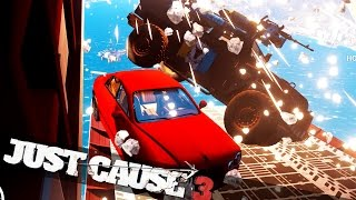 getlinkyoutube.com-JUST CAUSE 3 CAR BOMBING FROM A PLANE! :: Just Cause 3 Crazy Stunts