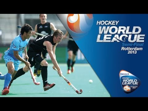 India vs New Zealand Men's Hockey World League Rotterdam Pool B [17/6/13]