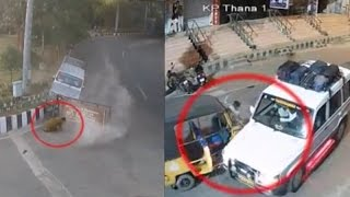 getlinkyoutube.com-Terrible Accidents Caught on CCTV Cam | Live Accidents in India | Tirupati Traffic Police