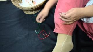 getlinkyoutube.com-How to make Sankranti Halwa Dagine ( Sugar Ornaments/Jewellry)