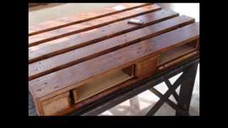 getlinkyoutube.com-Τραπεζάκι Σαλονιού από Παλέτες !!! my pallet table