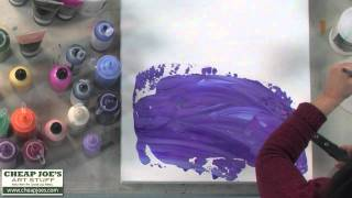 getlinkyoutube.com-Debbie Arnold- Acrylic Texture with Plastic Wrap