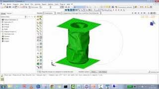 getlinkyoutube.com-Abaqus/CAE 6.11: How to do Aluminium Can Crash Test using Abaqus Explicit Solver