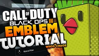 BO3 EMBLEM TUTORIAL - CHICKEN FRIES!! (Black Ops 3 Whos Chaos Emblem)